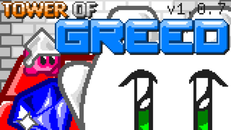 Tower of Greed game title screen