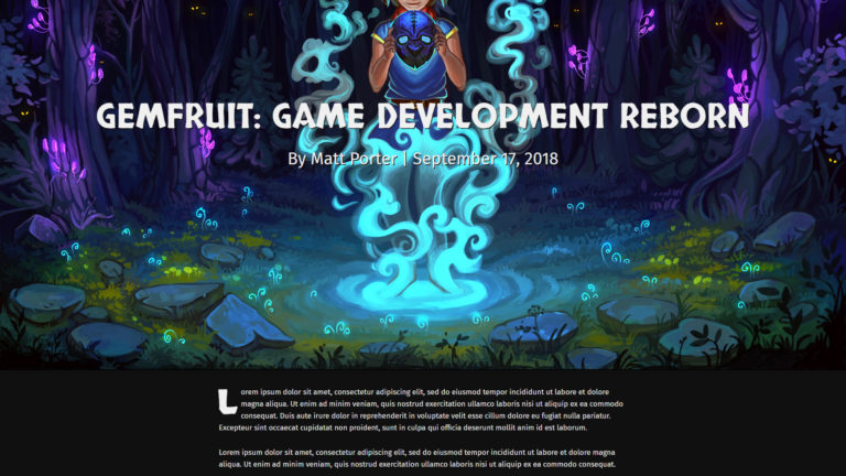 Gemfruit.com example page article