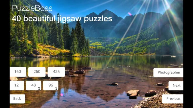 Puzzleboss jigsaw puzzles app title screen